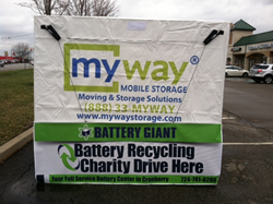 MyWay Mobile Storage of pittsburgh is Partnering With Battery Giant On Their Anniversary Battery Recycling Drive