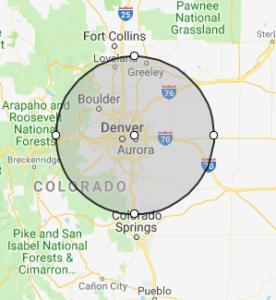 MyWay Mobile Storage of Denver Service area